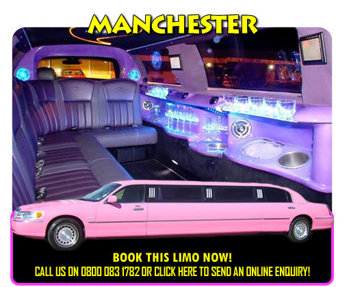 Pink Limos Manchester, Bury And Lancashire