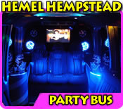 Pink Limo Party Bus In Hemel Hempstead, Watford, St Albans And Herts