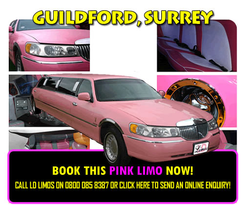 Pink Limos In Surrey, Staines, Leatherhead, Chertsey And Guildford